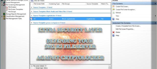 Extra defensielaag voor het tegenhouden van encryptie door cryptolocker op uw Windows Server 2012 r2. Gewoon een server Role installeren !
